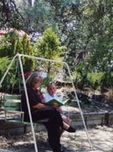 Reading with Granddaughter